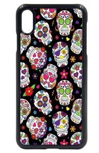 Mexican Day Of The Dead Sugar Skull Patern Design Hard Case Cover Fits Apple iPhone